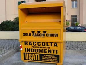 С улиц Рима уберут желтые контейнеры для сбора вещей нуждающимся