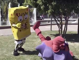 Rissa tra due animatori SpongeBob e Ricciotto del serial Smeshariki (VIDEO) / Per disputare il territorio d'intrattenimento dei bimbi
