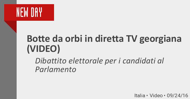 Botte da orbi in diretta tv georgiana video dibattito for Parlamento diretta tv